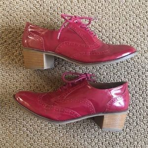Red Oxford Patent Leather Style Heels